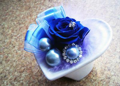 幸せの青いバラ