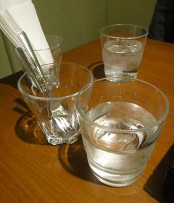 パリプラージュ 水&カトラリー