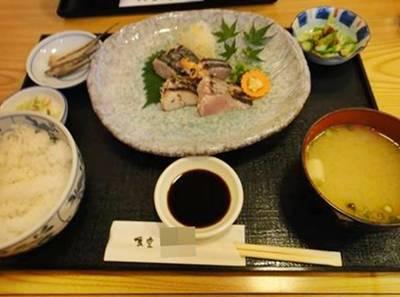 ヒミツ3 鰆のタタキ定食