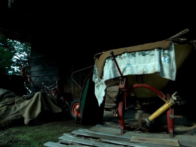 農家の軒先