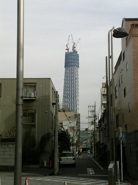 2010年1月17日の東京スカイツリー