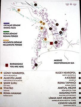 オリンポス遺跡地図