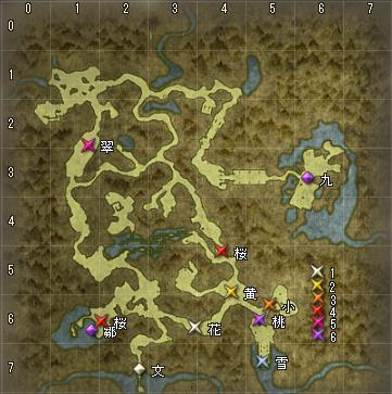 狐の棲まう森 地図