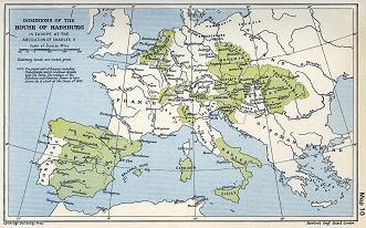 カール5世の時のヨーロッパ