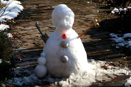 20110108 雪だるま
