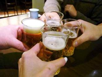 13-1-12 ビア乾杯