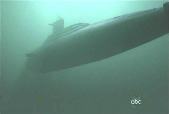 ジャックたちを乗せた潜水艦