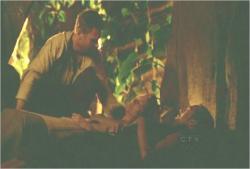 暗黒と母の遺体を並べるジェイコブ