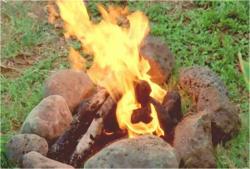 燃やされているジェイコブの遺灰