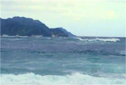 荒れてきた海