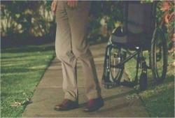 不要になったロックの車椅子