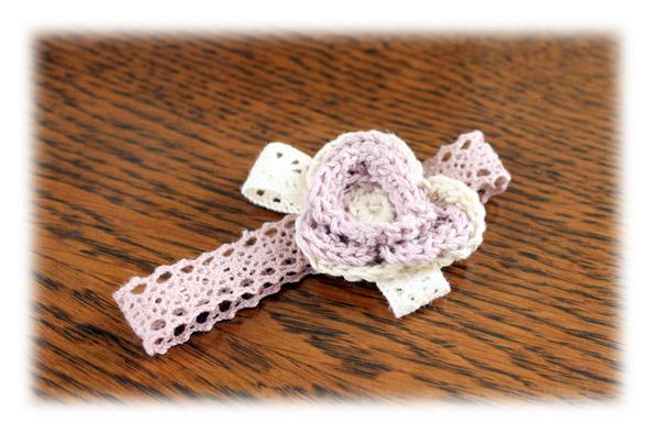 かぎ針編み花コサージュ20100212