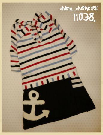 11038_マリンスカート付きバックリボンシャツ