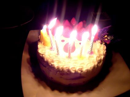 夫の誕生日ケーキ