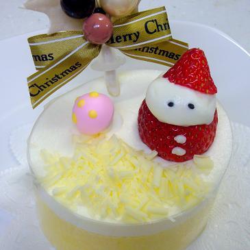 苺サンタのケーキ♪