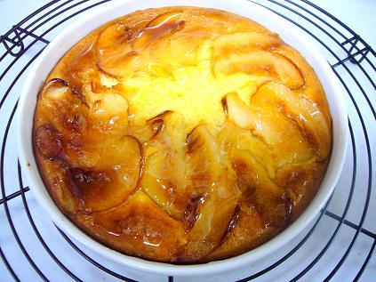 林檎とレーズンのベークドチーズケーキ