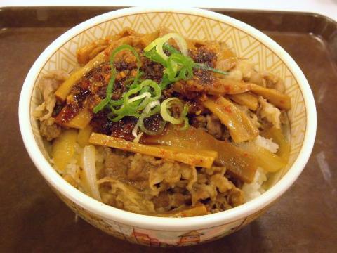 すき家 三条東裏館店・食べラーメンマ牛丼1