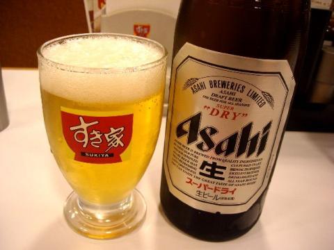 すき家 三条東裏館店・ ビール1