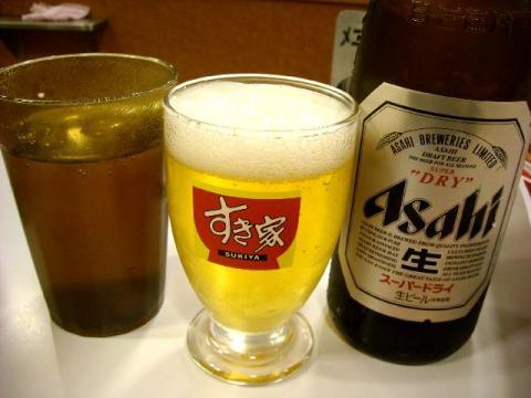 すき家 三条東裏館店・ ビール2