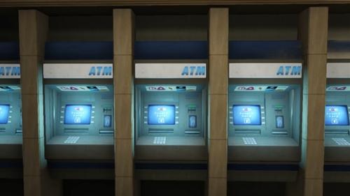 ATMがお出迎え