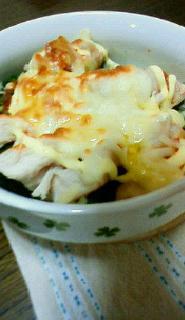 ブロッコリーと大根と、鶏胸肉のチーズ焼き♪