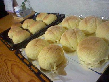 大量のメロンパンにメロメロ♪