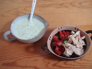 ライタドレッシングの夏野菜サラダ♪♪♪