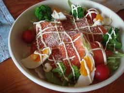 スモークサーモンのサラダ♪♪♪