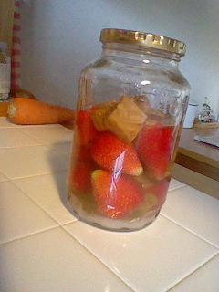 イチゴのフルーツ酢♪♪♪