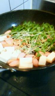 豆苗を調理