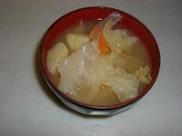 キャベツ味噌汁