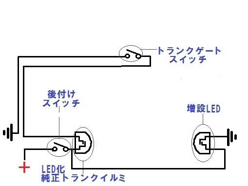 トランクランプ配線図 現在