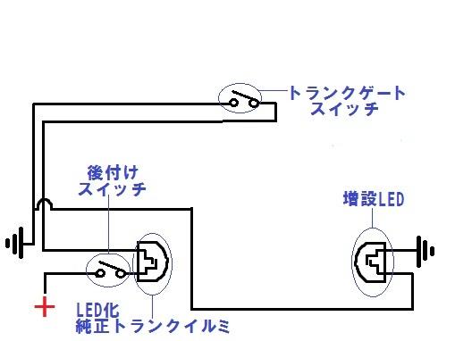 トランクランプ配線図 完成型