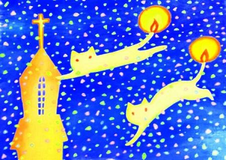 空飛ぶ猫キャンドル