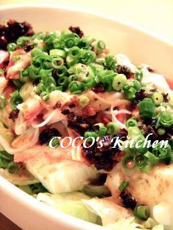 食べるラー油で豆腐サラダ