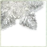 ガラスの雪の結晶