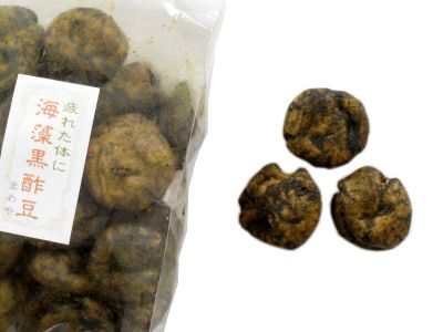 鎌倉まめや--海藻黒酢豆(9月限定)。
