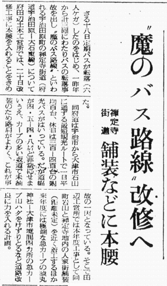 S37.11.21KY 禅定寺街道 「魔のバス路線」改修へb