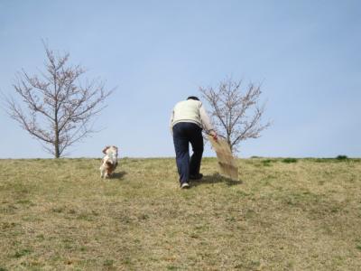 春、男2人・・・。