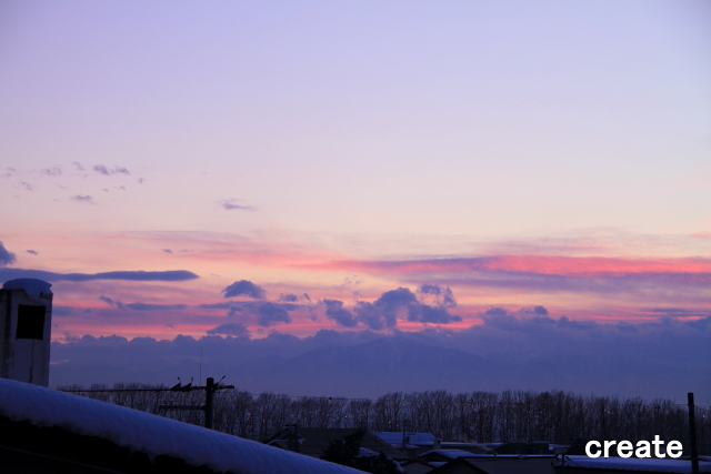 DPP_屋根の樹氷と夕焼け0001