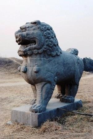 北宋永定陵石彫刻02
