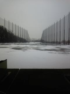 4月雪の練習場