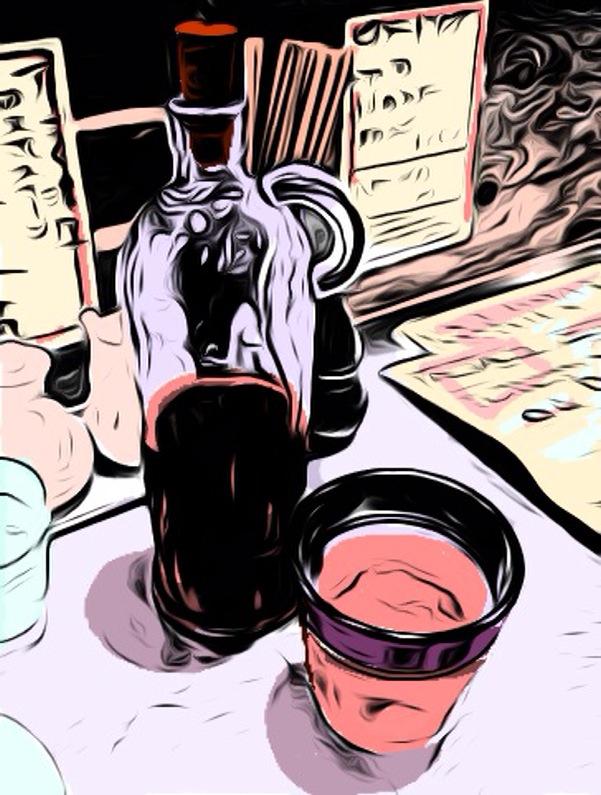 紹興酒とグラス10012201