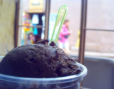 砂漠の町のアイス
