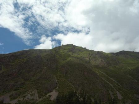 オリャンタイタンボから見える山