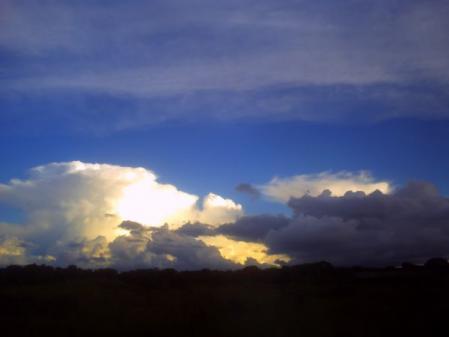ザンビアの雨雲