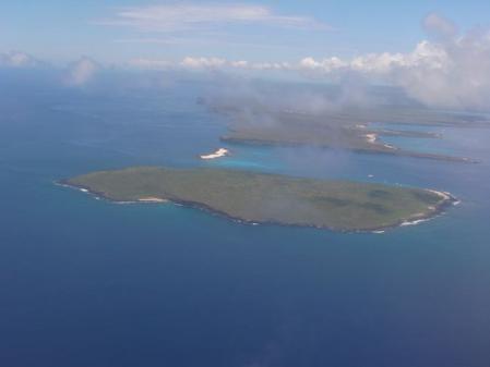 上空からみたガラパゴス諸島