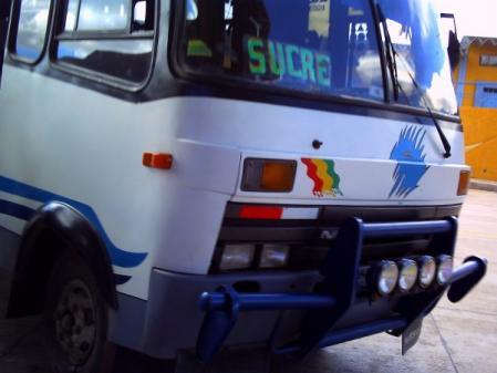 スクレ行きバス