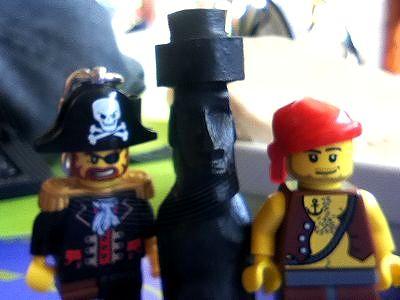 キャプテンとモアイと雪次郎