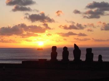 イースター島の夕暮れ 1024px × 768px